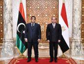السيد الرئيس يشدد على دعم مصر الكامل والمطلق للسلطة التنفيذية الجديدة في ليبيا في كافة المجالات وجميع المحافل الثنائية والإقليمية والدولية من أجل نجاحها في ادارة المرحلة  التاريخية الحالية والوصول إلى عقد الانتخابات الوطنية نهاية العام الجاري.