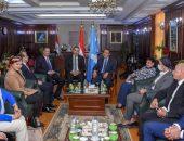 الشريف يستقبل لجنة الشباب والرياضة بمجلس النواب خلال زيارتهم الميدانية لمحافظة الإسكندرية