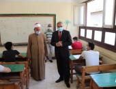 رئيس جامعة الأزهر يتفقد امتحانات الشهادة الثانوية الأزهرية في يومها الأول.