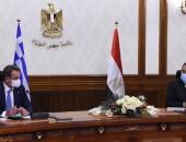 رئيسا وزراء مصر واليونان يترأسان جلسة مباحثات موسعة