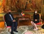 بيان صادر عن وزارة الخارجية: خلال زيارته لبروكسل، وزير الخارجية يلتقي بنظيرته البلجيكية