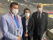 وزير الرياضة يلتقي رئيس اللجنة المنظمة لدورة الألعاب الأوليمبية بطوكيو.. ويعرض التجربة المصرية في تطوع الشباب خلال لقائه مع  مجموعة من المتطوعين في تنظيم الأولمبياد