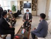 وزير التعليم العالي يستقبل الرئيس التنفيذى لشركة هواوي العالمية