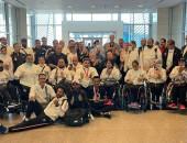 وزير الرياضة يستقبل البعثة المصرية البارالمبية بمطار القاهرة