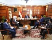 سعفان يبحث مع سفير قطر الارتقاء بالعلاقات الثنائية ودراسة احتياجات الدوحة من العمالة المصرية وتذليل أية عقبات أم الاستثمارات القطرية