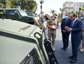 السيد الرئيس عبد الفتاح السيسي يتفقداليوم عدد من المركبات المدرعة المطورة من قبل القوات المسلحة